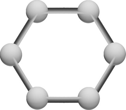 graphene hexagonal molecular structure